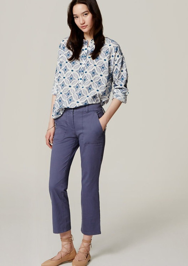 LOFT Kick Crop Utility Pants in Marisa Fit