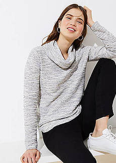 LOFT Knit Cowlneck Top