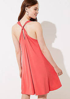 LOFT Knot Back Sleeveless Swing Dress