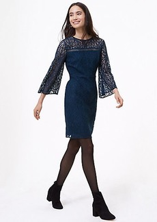 LOFT Lace Bell Sleeve Dress