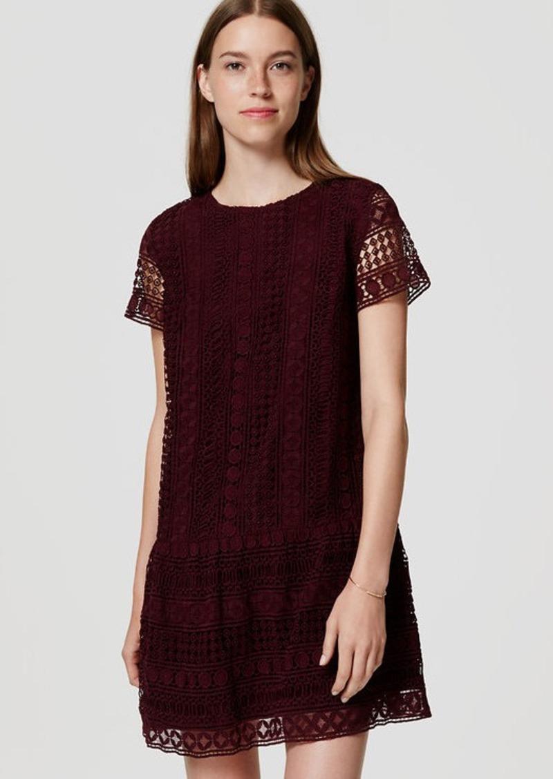 LOFT Lace Drop Waist Dress