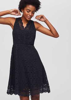 LOFT Lace Flare Dress