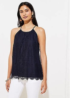 LOFT Lace Halter Top