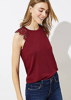LOFT Lace Raglan Sleeve Top