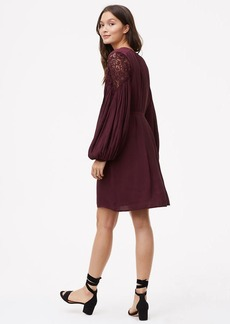 LOFT Lace Shoulder Shirtdress