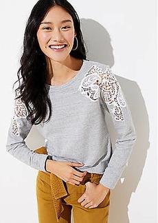 LOFT Lace Shoulder Sweatshirt