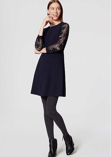 LOFT Lace Sleeve Dress