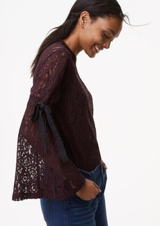 Lace Tie Bell Sleeve Top