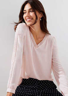 LOFT Lace Trim Blouse