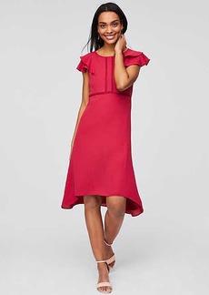 LOFT Lace Trim Flutter Dress