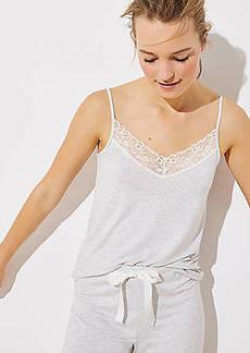 LOFT Lace Trim Pajama Cami