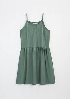 LOFT Lace Trim Strappy Swing Dress