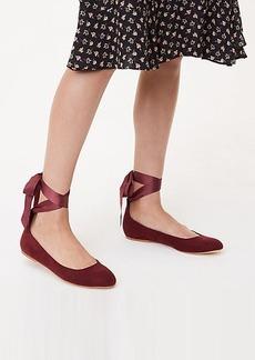 LOFT Lace Up Ballet Flats
