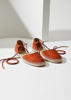LOFT Lace Up Espadrille Flats