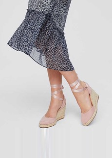 LOFT Lace Up Espadrille Wedges