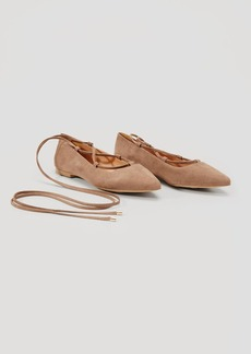 LOFT Lace Up Pointy Toe Flats