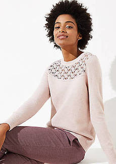 LOFT Lace Yoke Sweater