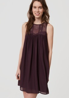 LOFT Lace Yoke Swing Dress