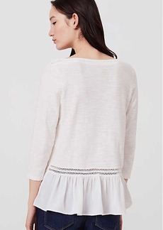 LOFT Lacy Back Peplum Sweater