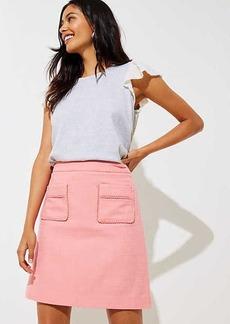 LOFT Lacy Patch Pocket Skirt