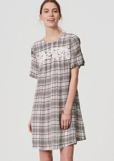 Lacy Plaid Swing Dress