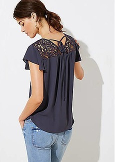 LOFT Lacy Tie Back Top
