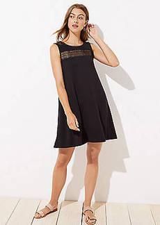 LOFT Lacy V-Back Swing Dress