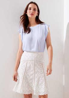 LOFT Cutout Eyelet Skirt
