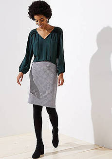 LOFT Lattice Jacquard Pencil Skirt