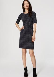 Lattice Side Shirred Dress