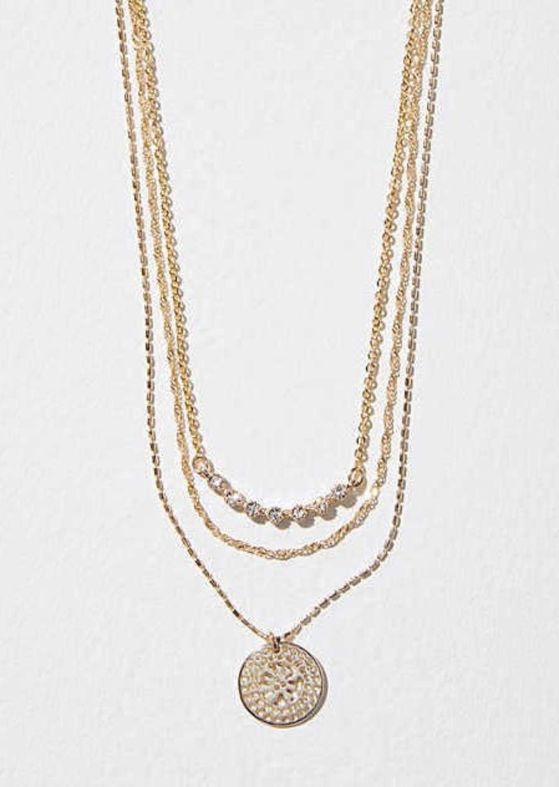LOFT Layered Charm Necklace