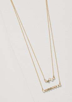 LOFT Layered Crystal Bar Necklace