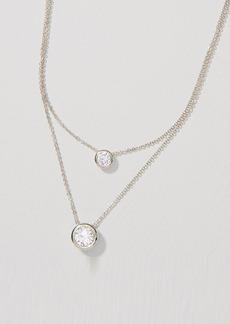 LOFT Layered Crystal Pendant Necklace