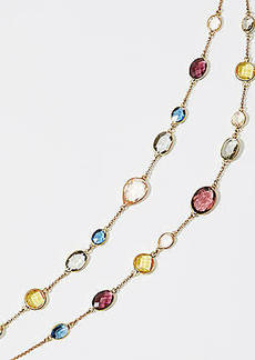 LOFT Layered Stone Illusion Necklace