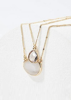 LOFT Layered Stone Pendant Necklace