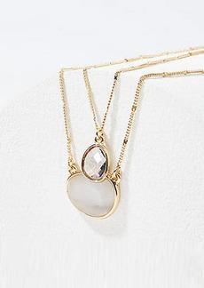 LOFT Layered Stone Pendant Necklace