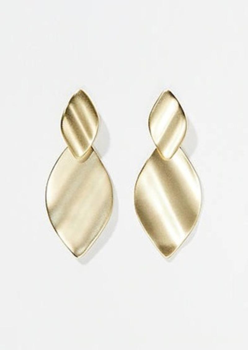 LOFT Leaf Layered Drop Earrings