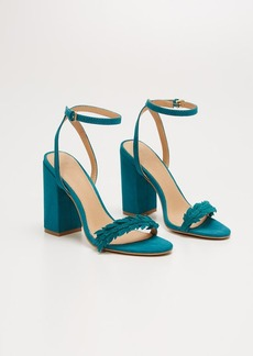 LOFT Leafed Block Heel Sandals