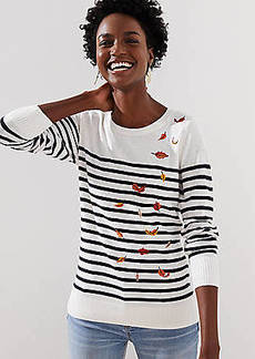 LOFT Leafed Stripe Sweater