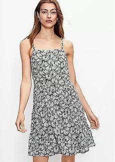 LOFT Leafed Tiered Mini Dress