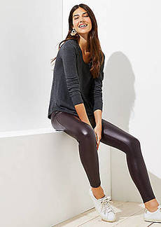 LOFT Leggings in Faux Leather