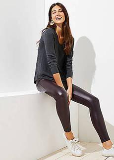 LOFT Leggings in Faux Leather