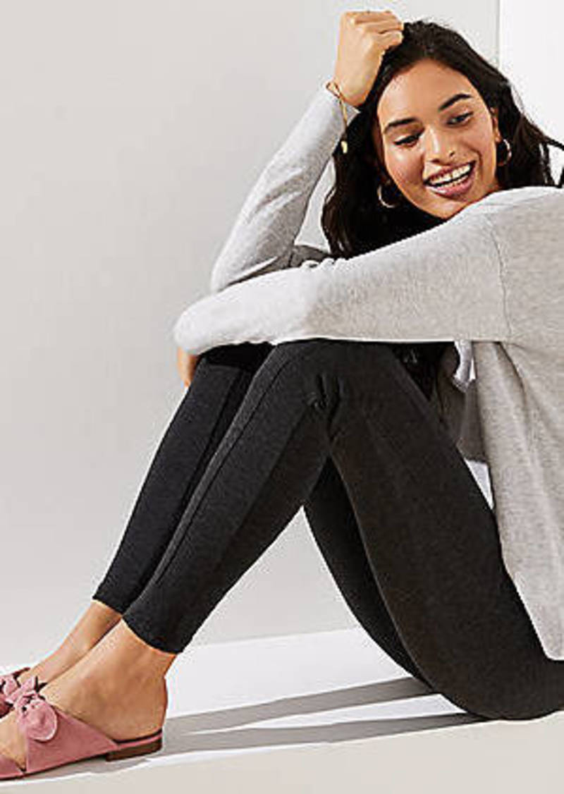 LOFT Leggings in Heathered Seamed Ponte