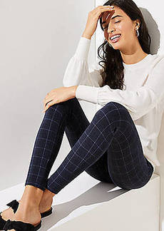 LOFT Leggings in Plaid Ponte