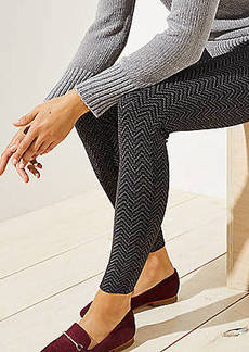 LOFT Leggings in Shimmer Chevron