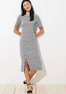 LOFT Leopard Jacquard Midi Dress