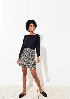 LOFT Leopard Jacquard Pocket Skirt