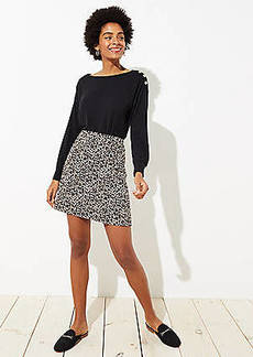 LOFT Leopard Jacquard Pocket Skirt
