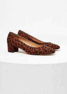 LOFT Leopard Print Block Heel Pumps