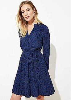LOFT Leopard Print Flare Dress